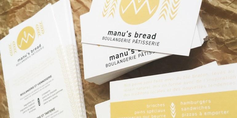carte visite Manus Bread