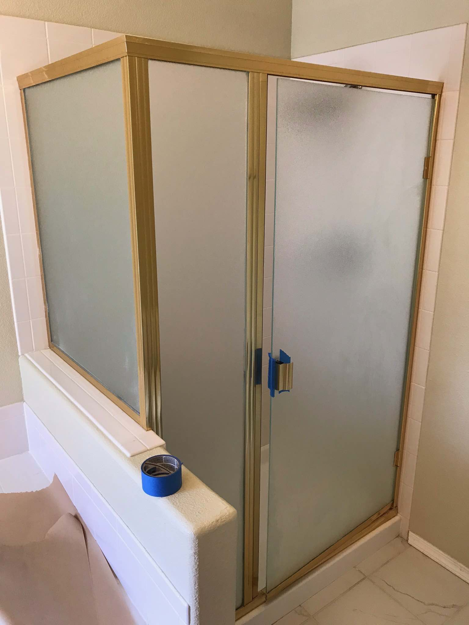 Diy Picture Frame Glass How To Paint A Brass Shower Frame For 30 Shower Door Diy