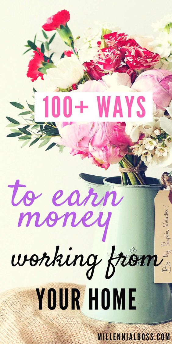 100 Easy Ways to Make Money Working From Home - Millennial Boss