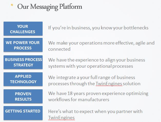 example of messaging-platform Content Marketing Pinterest - agenda sample