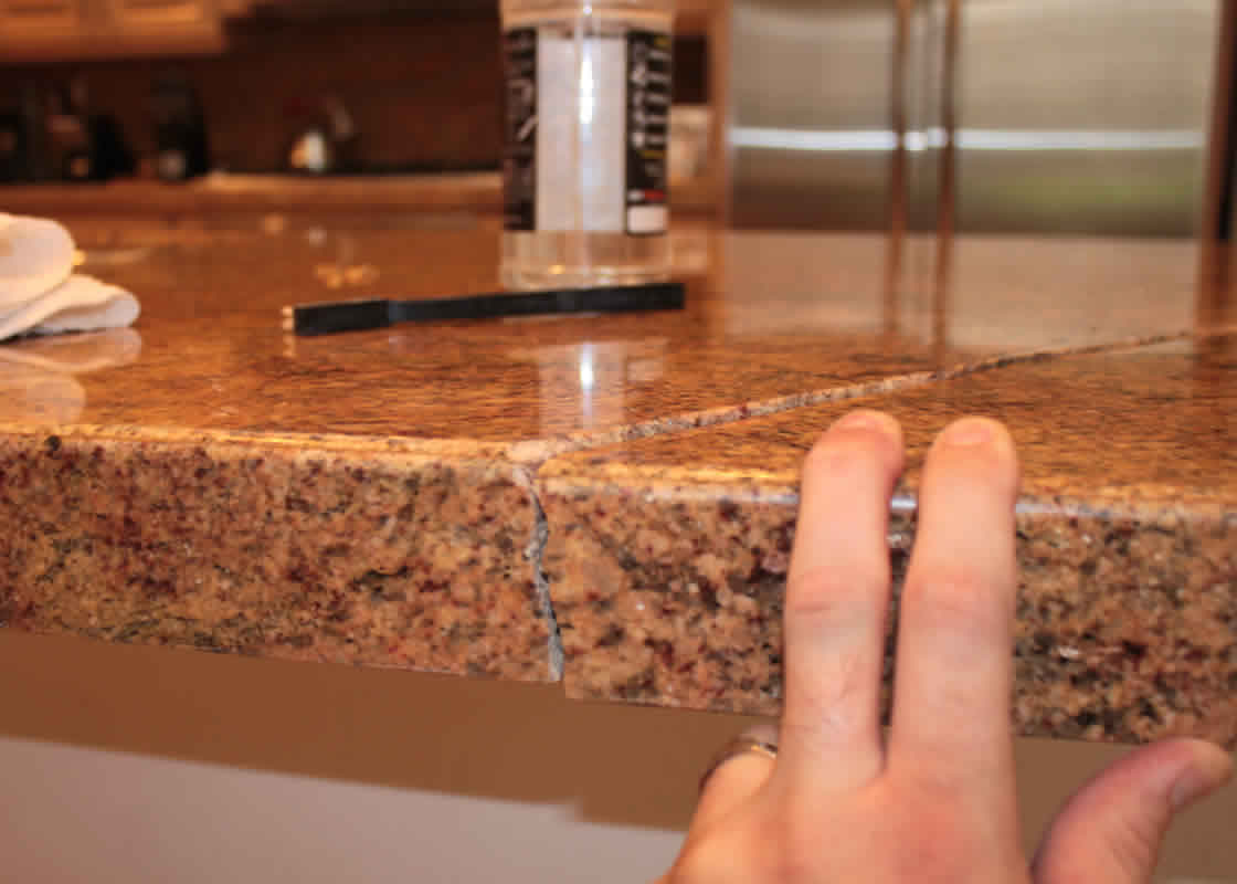 Granite Countertop Glue Broken Granite Repair Millestone Marble And Tile