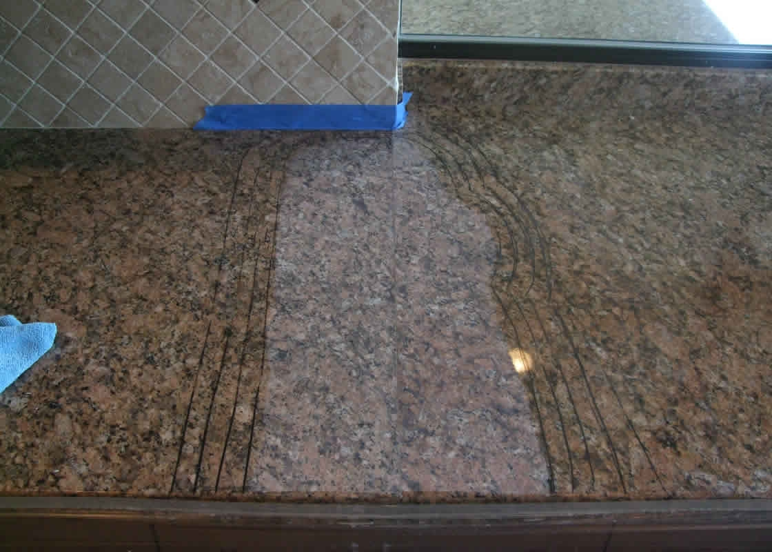 How To Repair Crack In Granite Countertop Restoration Gallery Millestone Marble And Tile