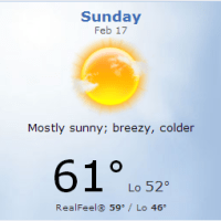 "Weather conditions for Sunday's race, or: ""It's all the streets you crossed, not so long ago..."""