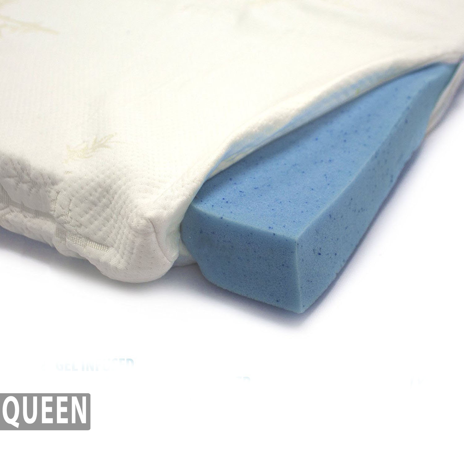 Bamboo Mattress Topper Review Gel Infused Memory Foam Mattress Topper Bamboo Cover Queen
