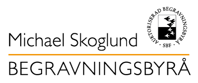 Michael Skoglund Begravningsbyrås logotyp, tillverkad av millimega