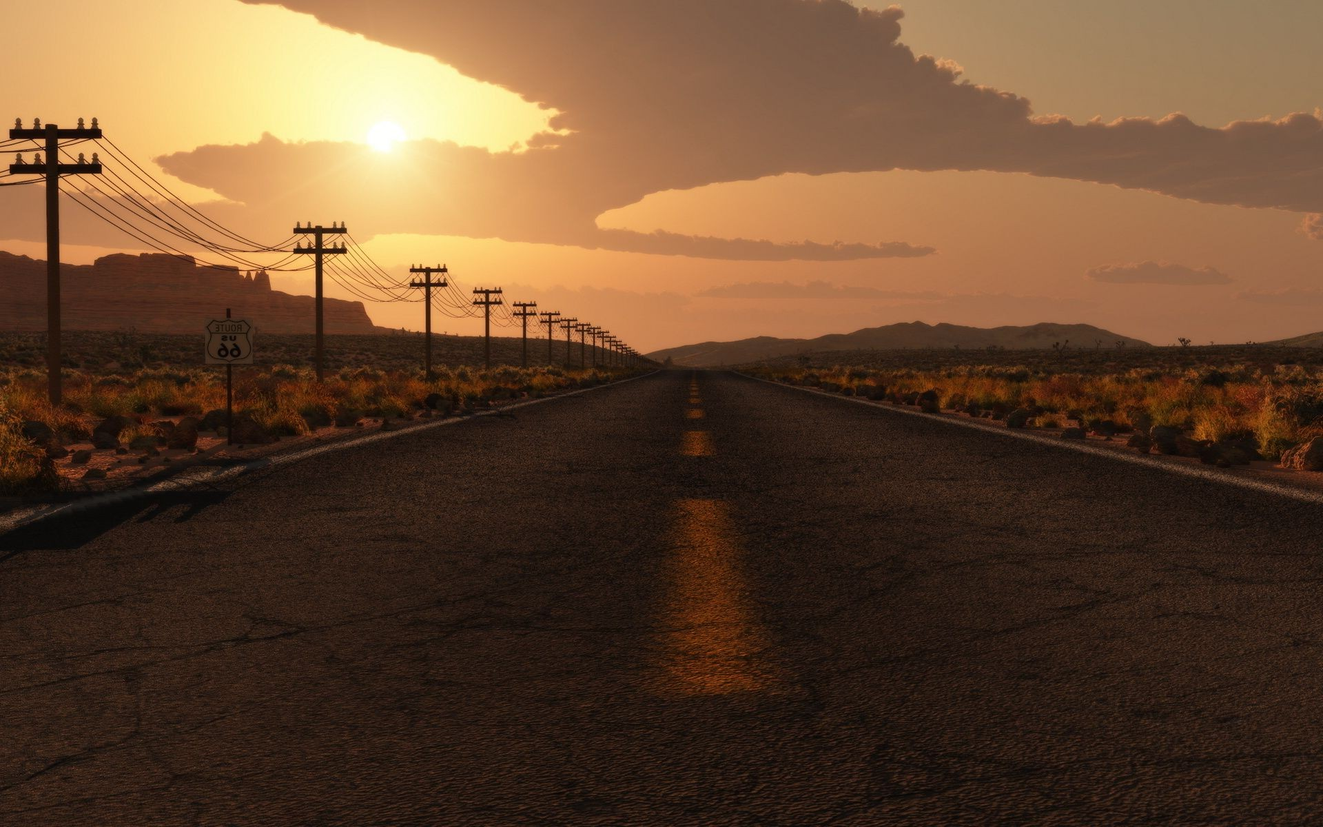 Free Android Fall Wallpaper Highway To Road To Nowhere Track In The Desert Android