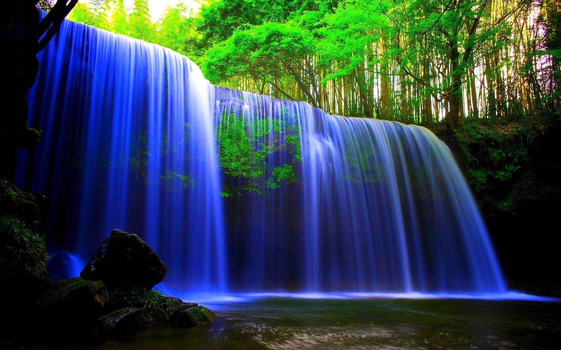 3d Live Waterfall Wallpaper For Desktop Neon Waterfall Iphone Wallpapers For Free