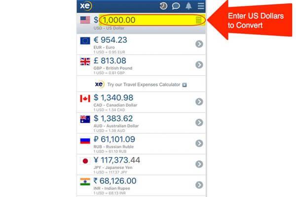 XE Currency Exchange App Million Mile Secrets