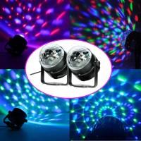 2 x LED RGB Crystal Magic Lighting Effect Stage Light Lamp ...