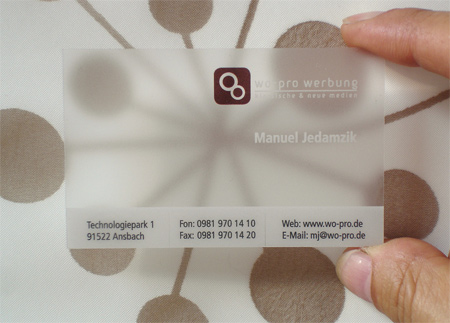 23 Cool Examples of Transparent Business Cards