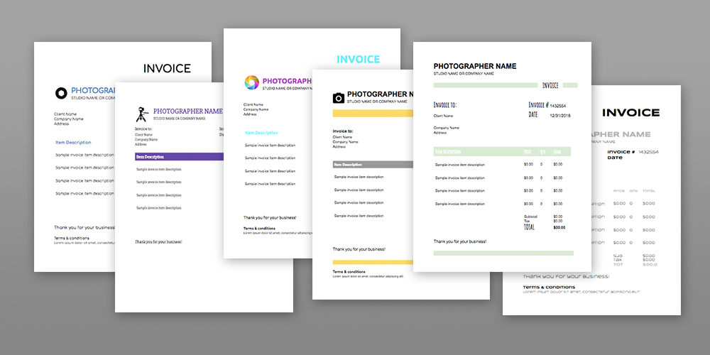 6 Photography Invoice Templates - Free Download