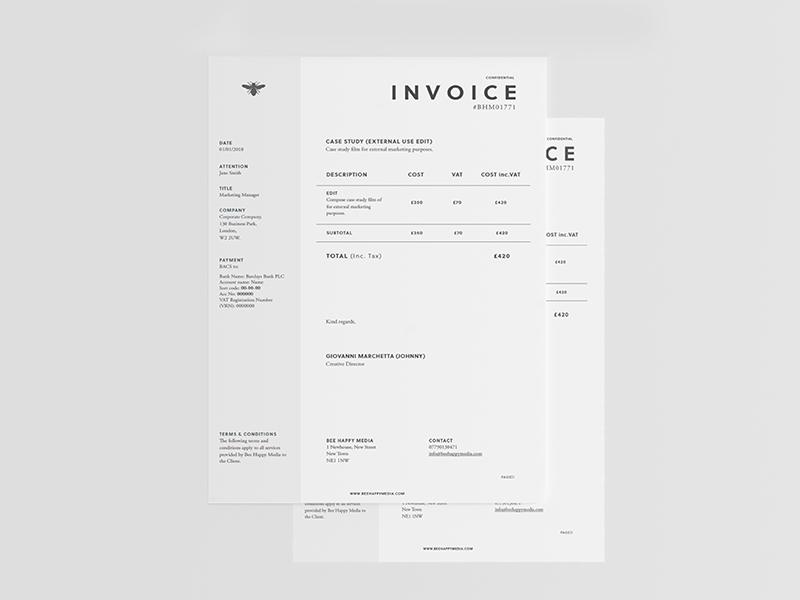 6 Free graphic design invoice templates