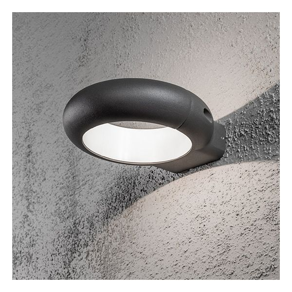 Salle De Bain Orange Et Gris Applique Exterieur Design Led Pool Gris Anthracite - Millumine