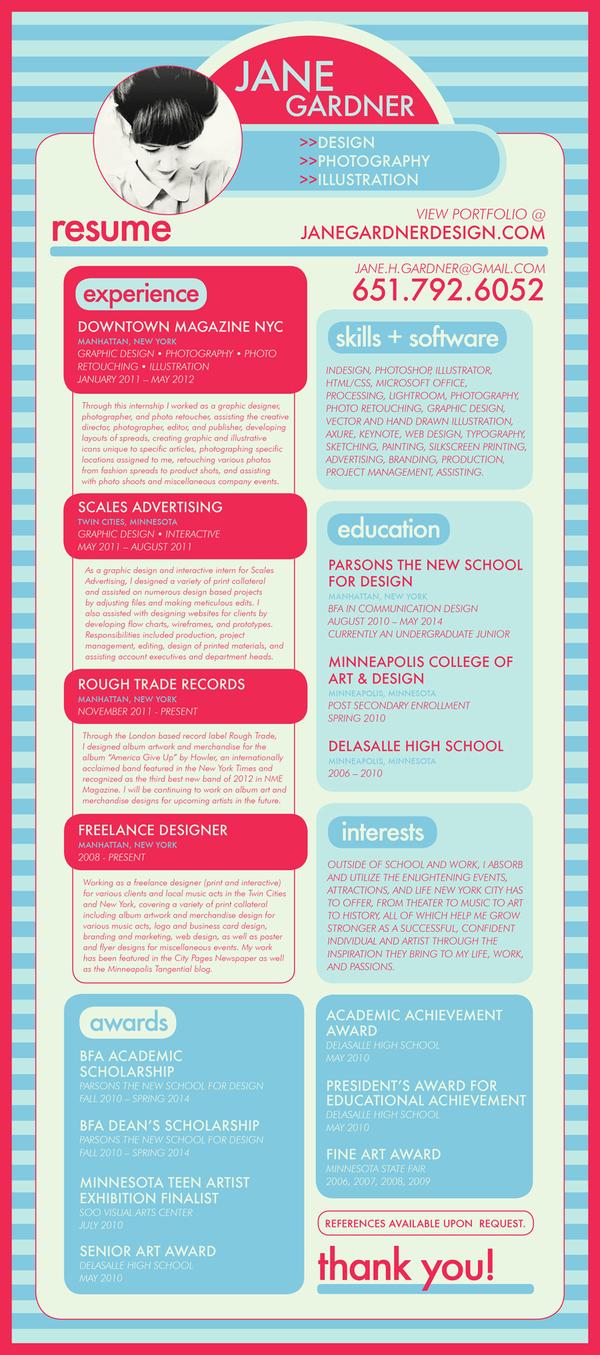 job graphic designer cv
