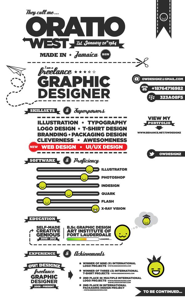 Creative CV _ Resume Examples 06 Milners Blog