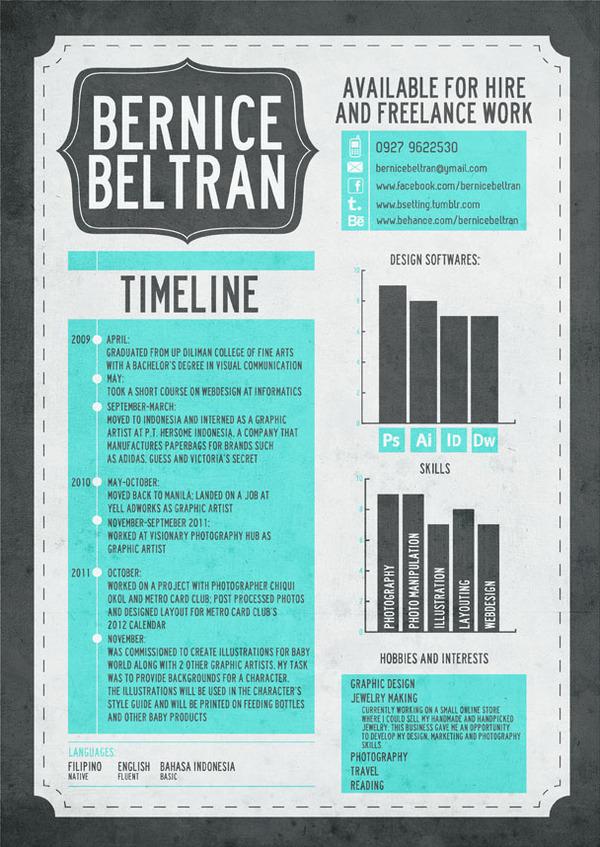 infographic graphic resume