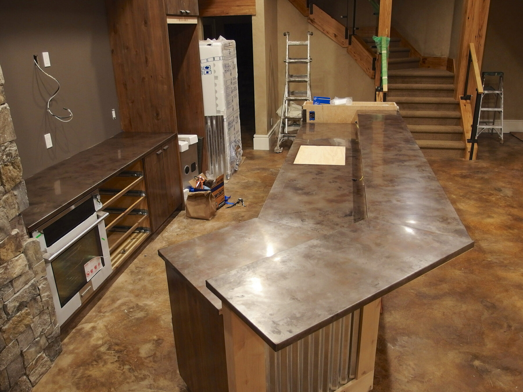 Stainless Countertop Volcanic Stainless Steel Countertops Milo S Art Metal