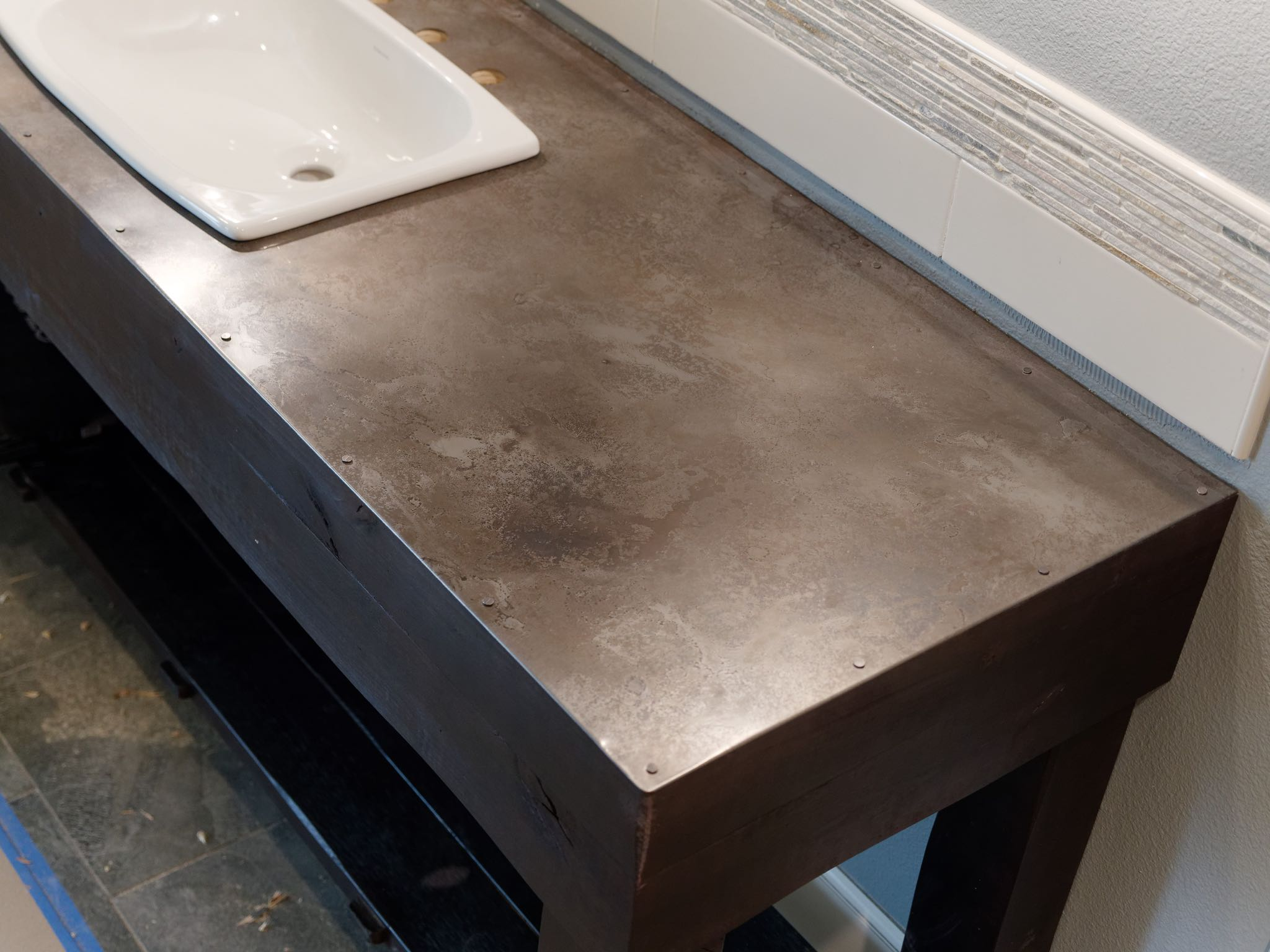 Stainless Countertop Volcanic Stainless Countertops Milo S Art Metal