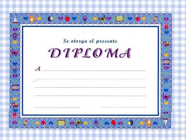 Modelos de diploma para rellenar - Imagui