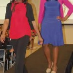 Ngozi Osademe & Anwuri Osademe, model business casual looks for spring during Boy & Girls Clubs of Greater Milwaukee's Career Development Fashion Show held recently at ManpowerGroup's corporate headquarters in downtown Milwaukee.