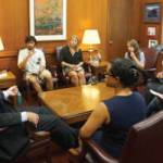 Courier Interns Interview Mayor Barrett