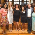From left to right, Jasmine Johnson, Rachael Hughes, Leah Jepson, Gopika SenthilKumar, Neil Kiekhofer, and Deanna Singh are all winners of the Philanthropic 5 Award this year. Photo by Front Room Photography.
