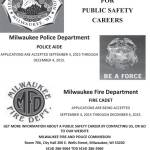 Positions Open: Public Safety Careers at City of Milwaukee