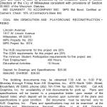 MPS Requesting BIDs for Coal Bin Demolition and Playground Reconstruction – Rebid at Lincoln Avenue