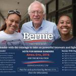 Join The Revolution – Vote for Bernie Sanders on April 5th, 2016