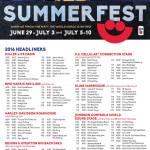 Summerfest 2016 Headliners