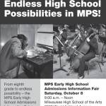 MPS Early High School Admissions Information Fair Oct 8