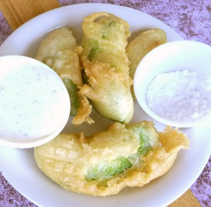 fried avocados with dip