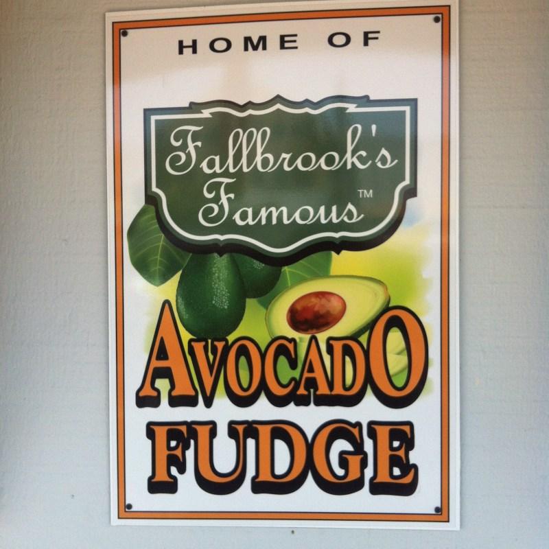 Avocado Fudge sign
