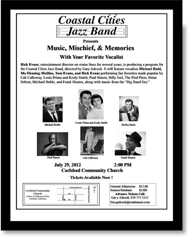 Coastal Cities Jazz Band flyer