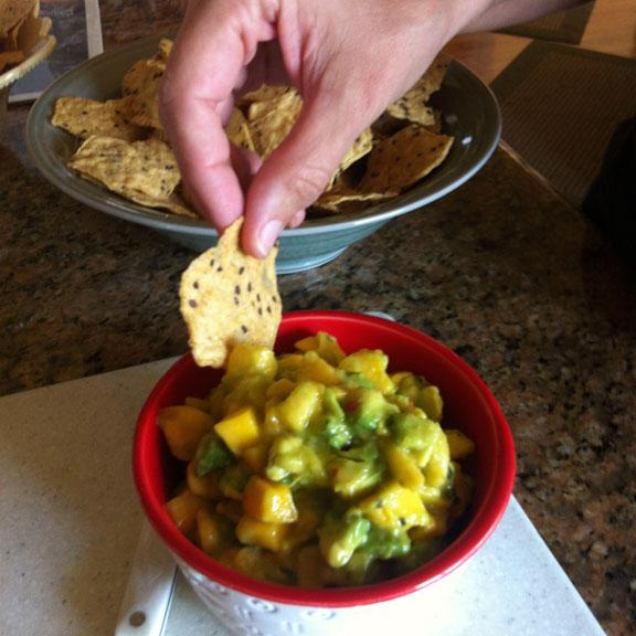 mango and avocado salsal