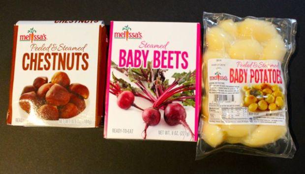 potatoes, chestnust, beets