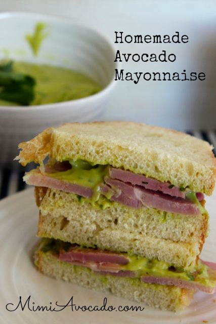 Homemade Avocado Mayonnaise and a Giveaway!