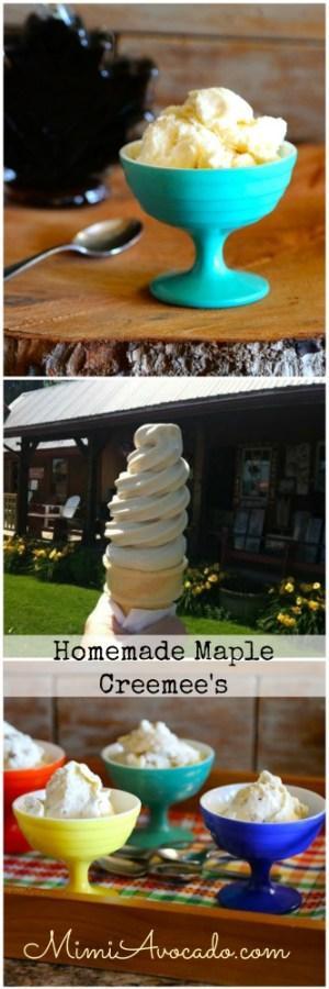Maple Ice Cream Collage