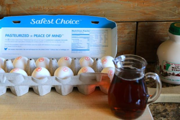 Safe Eggs and maple syrup