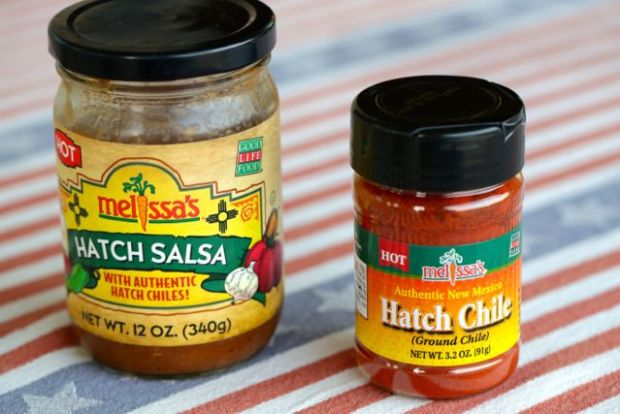 Hatch Chile salsa and powder from Melissa's Produce