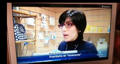 Ana Vicente presidenta de AMAMANTA hablando de evidencia científica