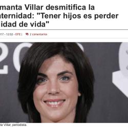 Samanta Villar- calidad de vida