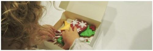 Preparando nuestras galletas para llevarlas a casa