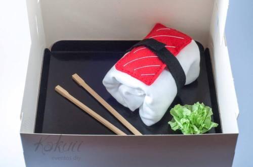 foto de la canastilla de sushi