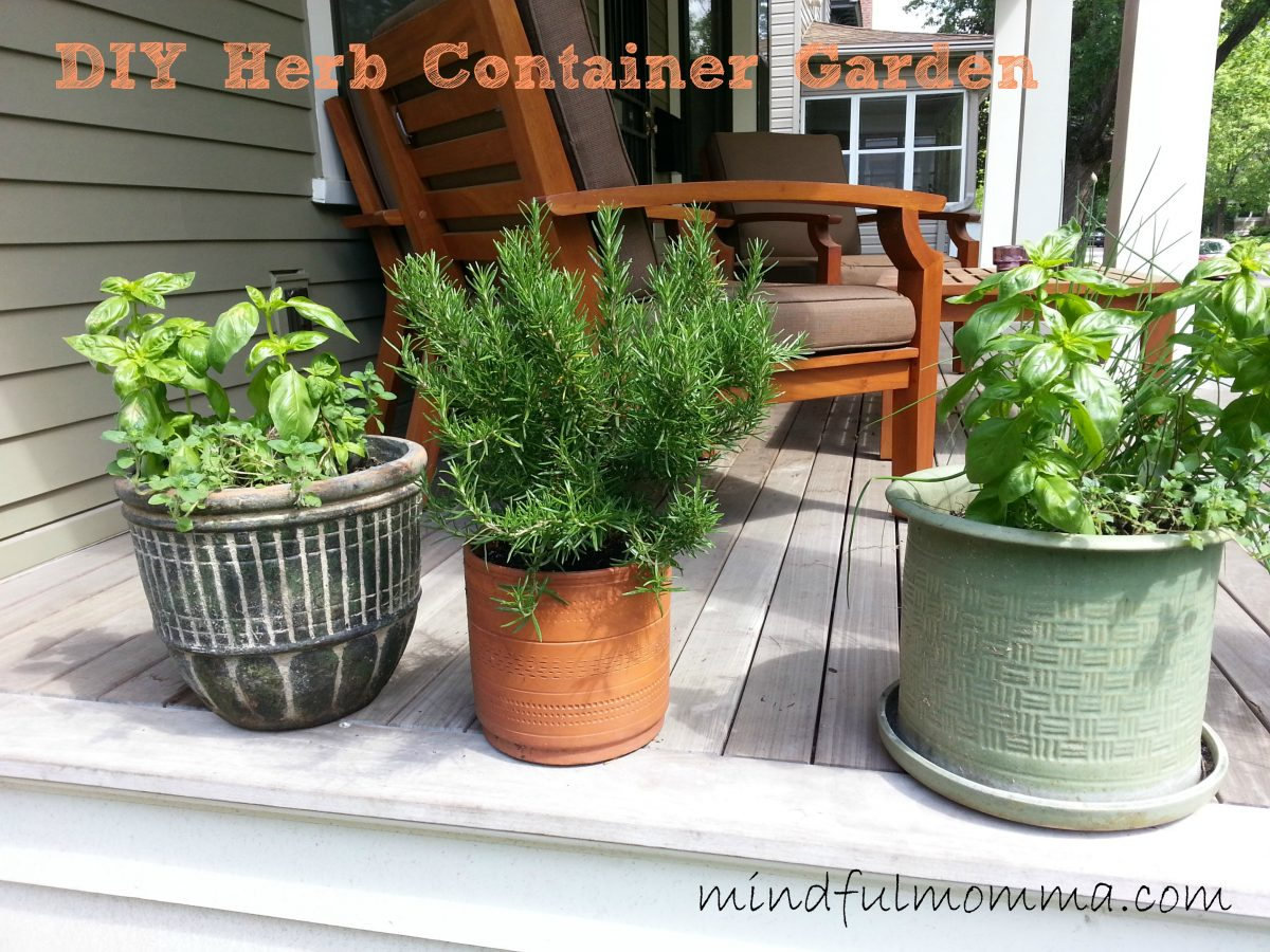 Herb Garden Container How To Make An Easy Herb Container Garden At Home