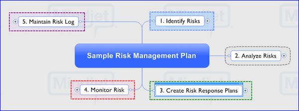 How to create a risk management plan using a mind map