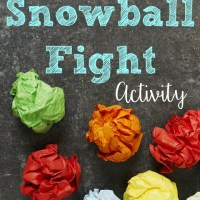 "Back to School ""Snowball"" Fight"