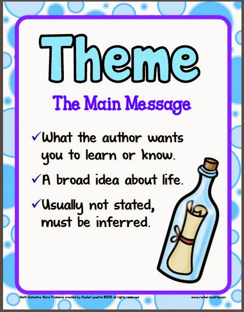 Ideas for Teaching Theme (and a couple freebies!) - Minds in Bloom