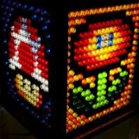 Une lampe Super Mario 3 en Lego