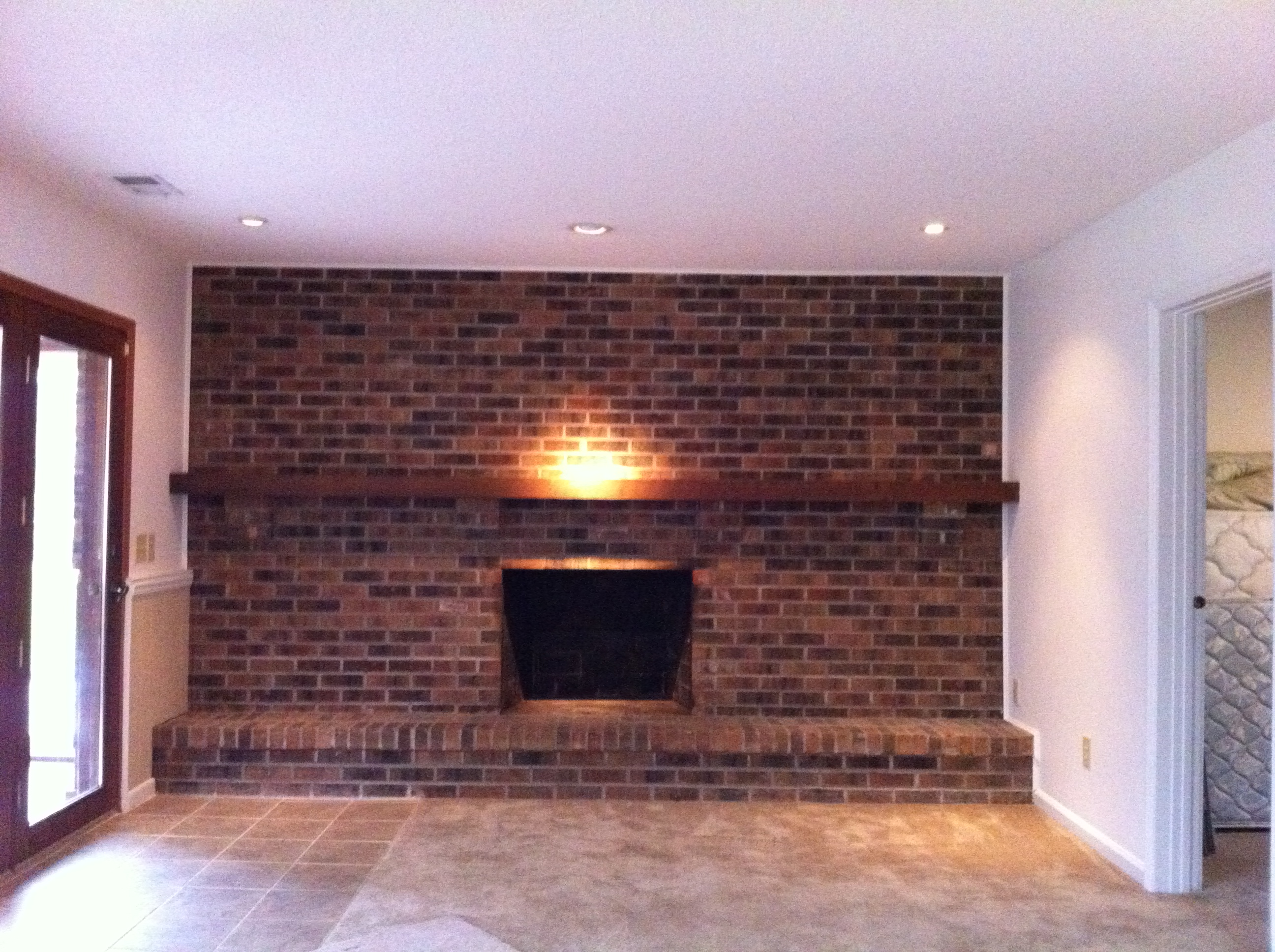 How To Decorate Fireplace Wall How To Decorate A Full Wall Brick Fireplace Wall Decor Ideas